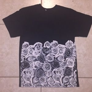 B&W Roses Graphic Tee